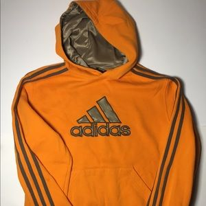 Adidas vintage hoodie sweatshirt size large orange